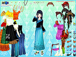 Asian Gal Dressup game