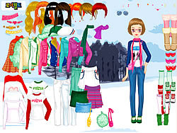 Winter Walking Dress Up game