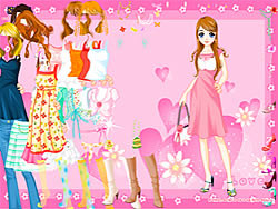 Pink Heart Dressup game