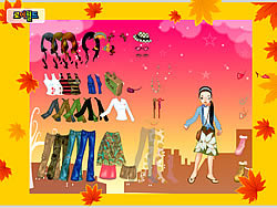 Autumn Post Card Dress Up game
